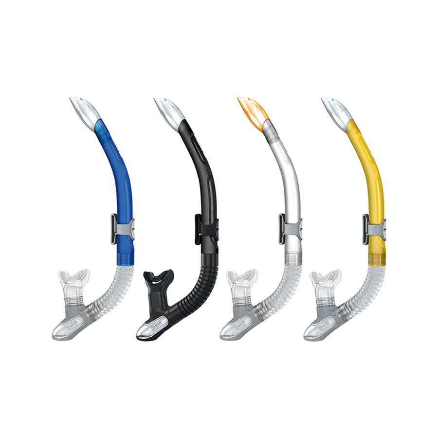 Mares Ergo Silicone Dry Snorkel with Exhaust Valve and Ergonomic Design